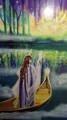 """Das Lichtschiff (Karte aus dem Set """"Avalons Vermächtnis"""" von Melanie Missing und Anne-Mareike Schultz)"""