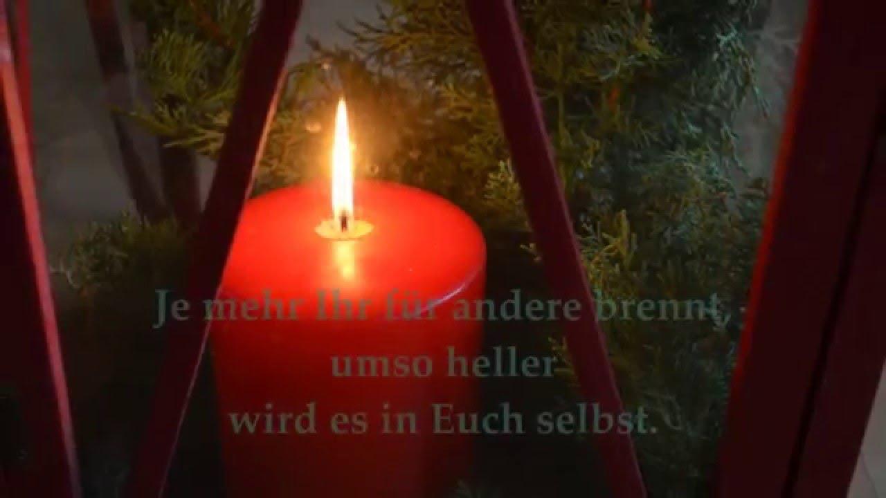 GEDANKEN EINER KERZE - Geschichte - Weise Worte zum Advent - LANG LEBEN